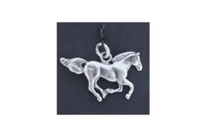 Sterling Silver Running Free Horse Charm