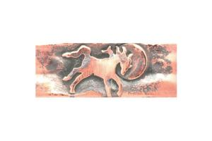 Ildanach Studios Recycled Copper Frolicking Horse Barrette